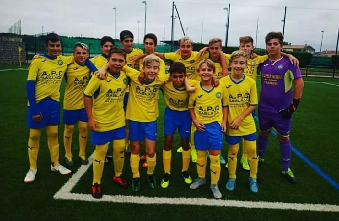 équipe des U17 as valerguoise 2019